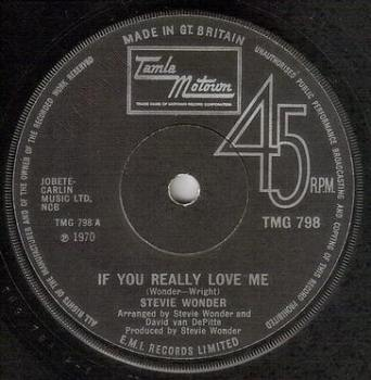 STEVIE WONDER - IF YOU REALLY LOVE ME - TMG 798