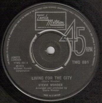 STEVIE WONDER - LIVING FOR THE CITY - TMG 881