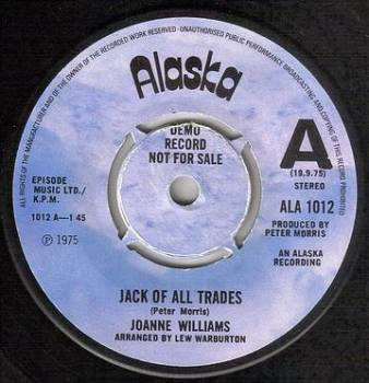 JOANNE WILLIAMS - JACK OF ALL TRADES - ALASKA DEMO