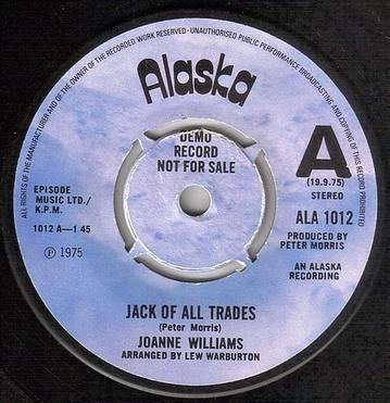 JOANNE WILLIAMS - JACK OF ALL TRADES - ALASKA DEMO