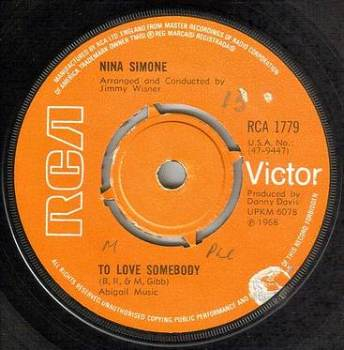 NINA SIMONE - TO LOVE SOMEBODY - RCA