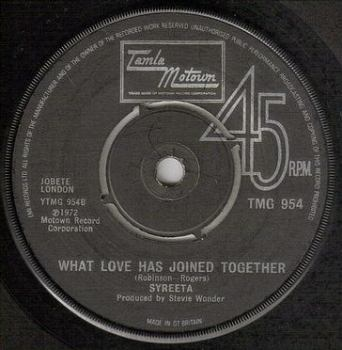 SYREETA - WHAT LOVE HAS JOINED TOGETHER - TMG 954