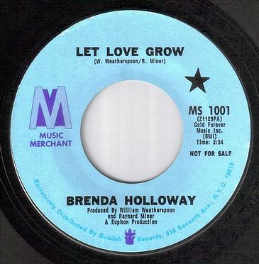 BRENDA HOLLOWAY - LET LOVE GROW - MUSIC MERCHANT DEMO