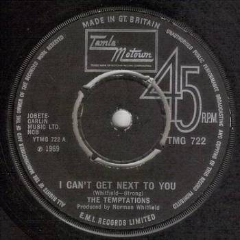 TEMPTATIONS - I CAN'T GET NEXT TO YOU - TMG 722