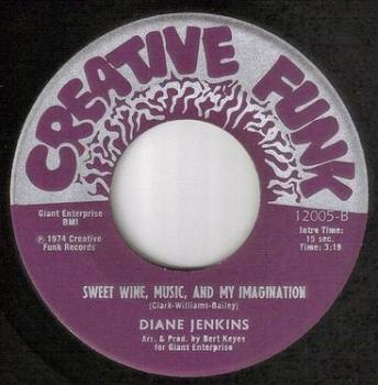 DIANE JENKINS - SWEET WINE, MUSIC, AND MY IMAGINATION - CREATIVE FUNK