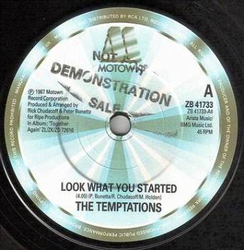 TEMPTATIONS - LOOK WHAT YOU STARTED - MOTOWN 41733