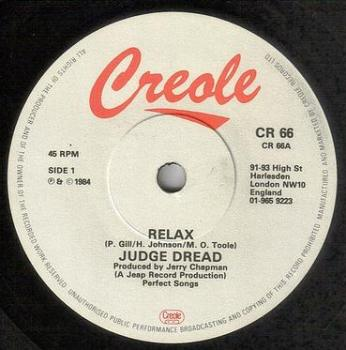 JUDGE DREAD - RELAX - CREOLE