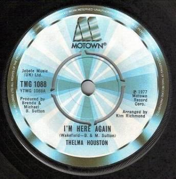 THELMA HOUSTON - I'M HERE AGAIN - TMG 1088