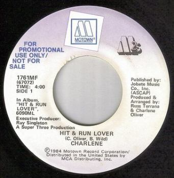 CHARLENE - HIT & RUN LOVER - MOTOWN DEMO