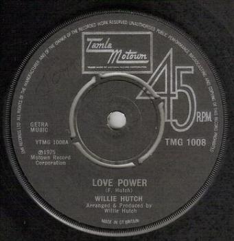 WILLIE HUTCH - LOVE POWER - TMG 1008