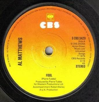 AL MATTHEWS - FOOL - CBS