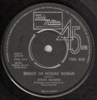 STEVIE WONDER - BOOGIE ON REGGAE WOMAN - TMG 928