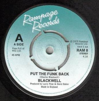 BLACKWELL - PUT THE FUNK BACK - RAMPAGE