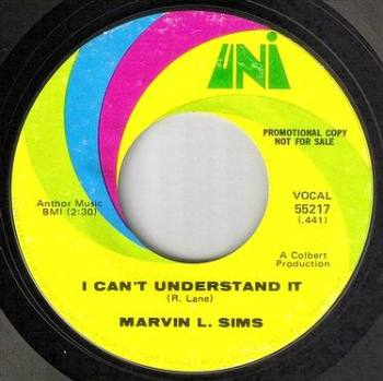 MARVIN L. SIMS - I CAN'T UNDERSTAND IT - UNI DEMO