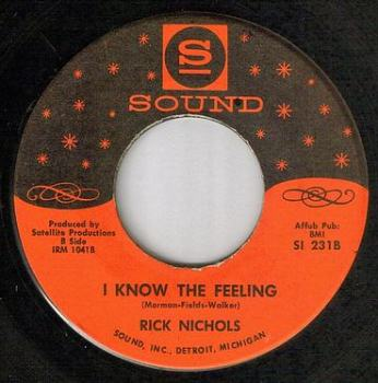 RICK NICHOLS - I KNOW THE FEELING - SOUND
