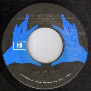 O.V. WRIGHT - THE BOTTOM LINE - HI