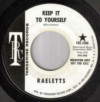 RAELETTS - KEEP IT TO YOURSELF - TRC DEMO