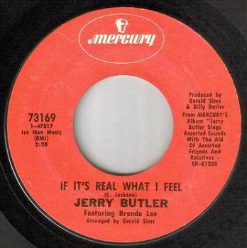 JERRY BUTLER - IF IT'S REAL WHAT I FEEL - MERCURY