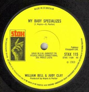 WILLIAM BELL & JUDY CLAY - MY BABY SPECIALIZES - STAX
