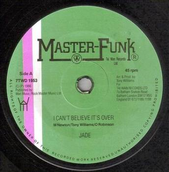 JADE - I CAN'T BELIEVE IT'S OVER - MASTER FUNK
