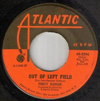 PERCY SLEDGE - OUT OF LEFT FIELD - ATLANTIC