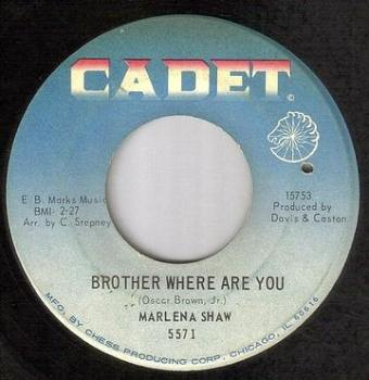 MARLENA SHAW - BROTHER WHERE ARE YOU - CADET
