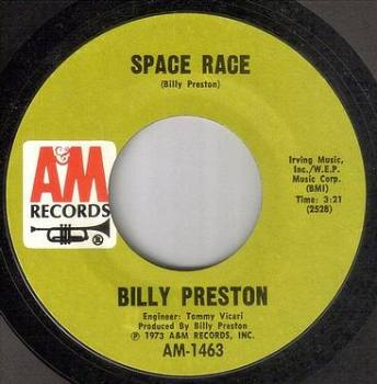 BILLY PRESTON - SPACE RACE - A&M