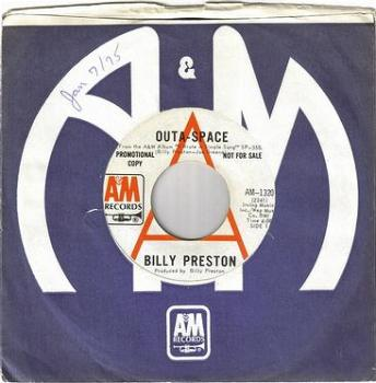BILLY PRESTON - OUTA-SPACE - A&M DEMO
