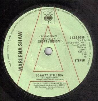 MARLENA SHAW - GO AWAY LITTLE BOY - CBS DEMO