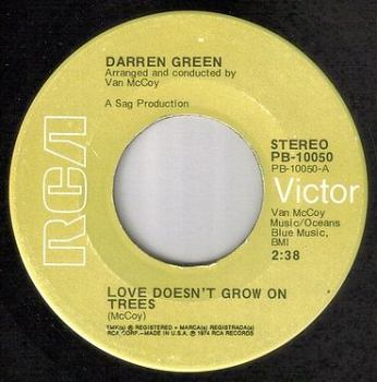 DARREN GREEN - LOVE DOESN'T GROW ON TREES - RCA
