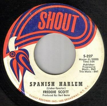 FREDDIE SCOTT - SPANISH HARLEM - SHOUT