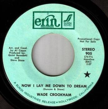 WADE CROOKHAM - NOW I LAY ME DOWN TO DREAM - ERIN