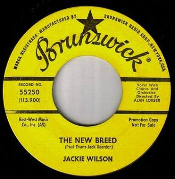 JACKIE WILSON - THE NEW BREED - BRUNSWICK DEMO