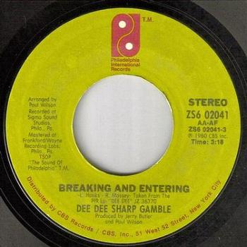 DEE DEE SHARP GAMBLE - BREAKING AND ENTERING - PIR