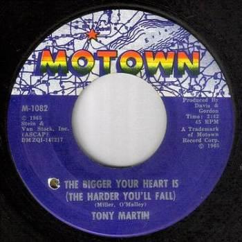 TONY MARTIN - THE BIGGER YOUR HEART IS - MOTOWN