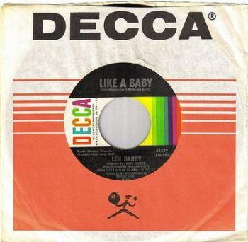 LEN BARRY - LIKE A BABY - DECCA