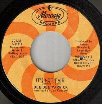 DEE DEE WARWICK - IT'S NOT FAIR - MERCURY