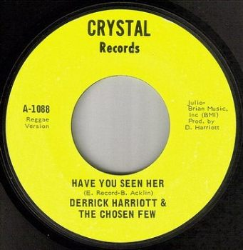 DERRICK HARRIOTT - HAVE YOU SEEN HER - CRYSTAL