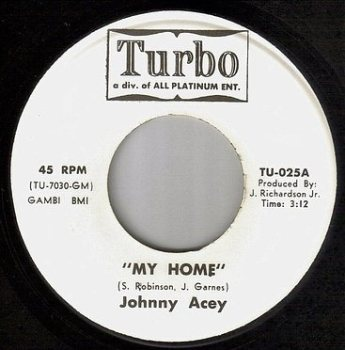 JOHNNY ACEY - MY HOME - TURBO DEMO