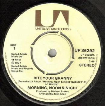 MORNING, NOON AND NIGHT - BITE YOUR GRANNY - UA