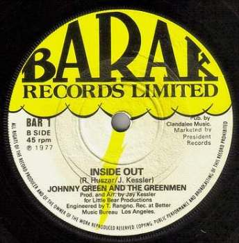 JOHNNY GREEN & THE GREEN MEN - INSIDE OUT - BARAK
