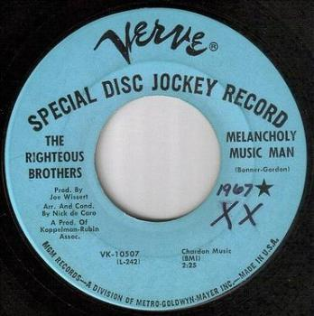 RIGHTEOUS BROTHERS - MELANCHOLY MUSIC MAN - VERVE DEMO