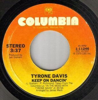 TYRONE DAVIS - KEEP ON DANCIN' - COLUMBIA
