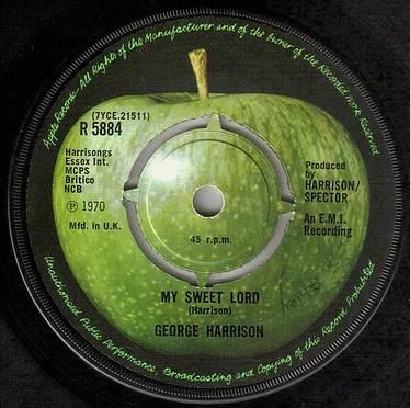 GEORGE HARRISON - MY SWEET LORD - APPLE