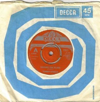TOMMY STEELE - SINGING THE BLUES - DECCA