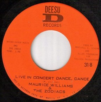 "MAURICE WILLIAMS - DANCE DANCE ""LIVE"" - DEESU"
