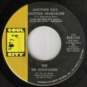 5TH DIMENSION - ANOTHER DAY, ANOTHER HEARTACHE - SOUL CITY