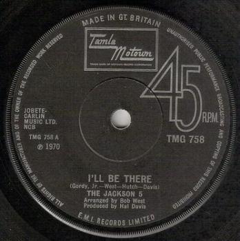 JACKSON FIVE - I'LL BE THERE - TMG 758