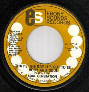 SOUL GENERATION - BODY AND SOUL - EBONY SOUNDS