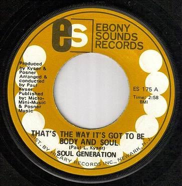 SOUL GENERATION - BODY AND SOUL - EBONY SOUNDS
